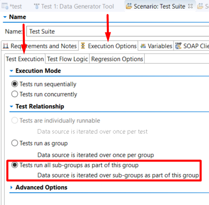 SOATest-How to loop the test cases — Parasoft Forum