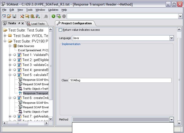 JAR file and Method tool problem — Parasoft Forum