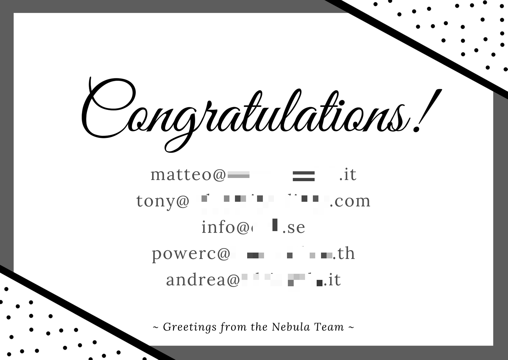 Black and White Polka Dots Congratulations Card.png