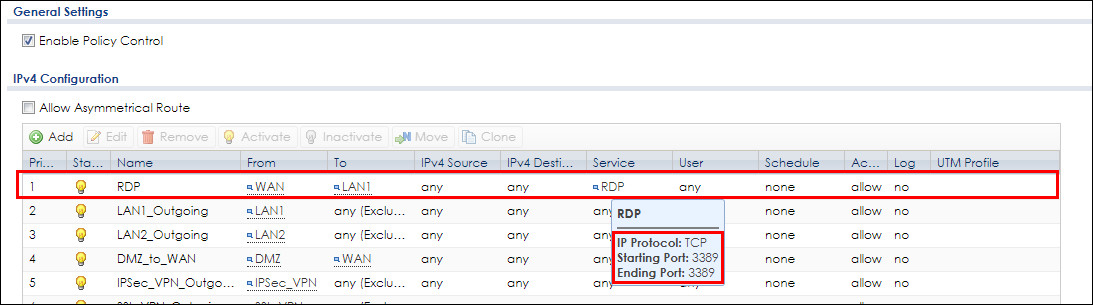 How to setup port forwarding to my internal RDP PC? — Zyxel