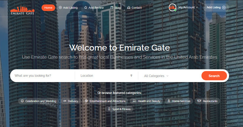 emirate gate home page and main search.jpg