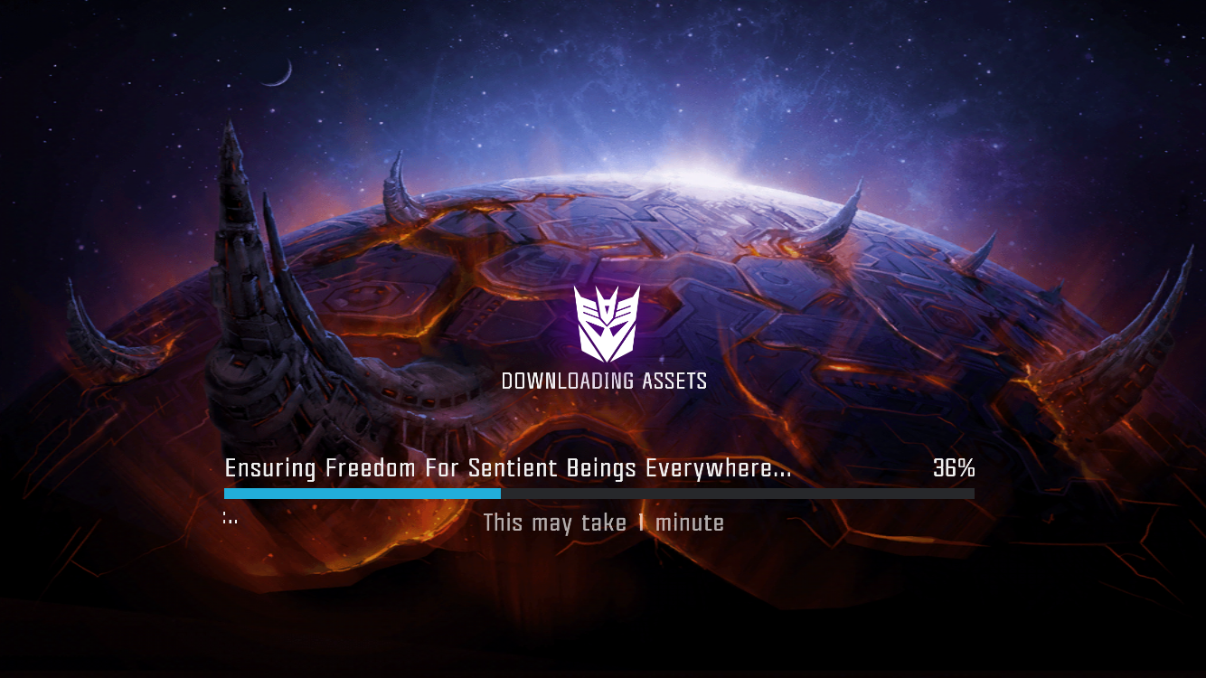 Loading Screen Pops Up During A Fight Transformers Forged To Fight