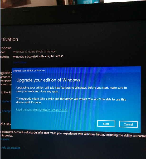 windows 10 home to pro with key