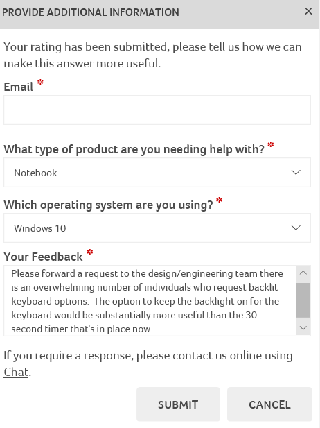 Where are the Nitro 5 keyboard back light settings? — Acer