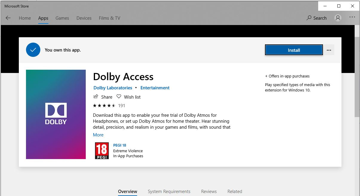 Dolby Atmos Sound Download