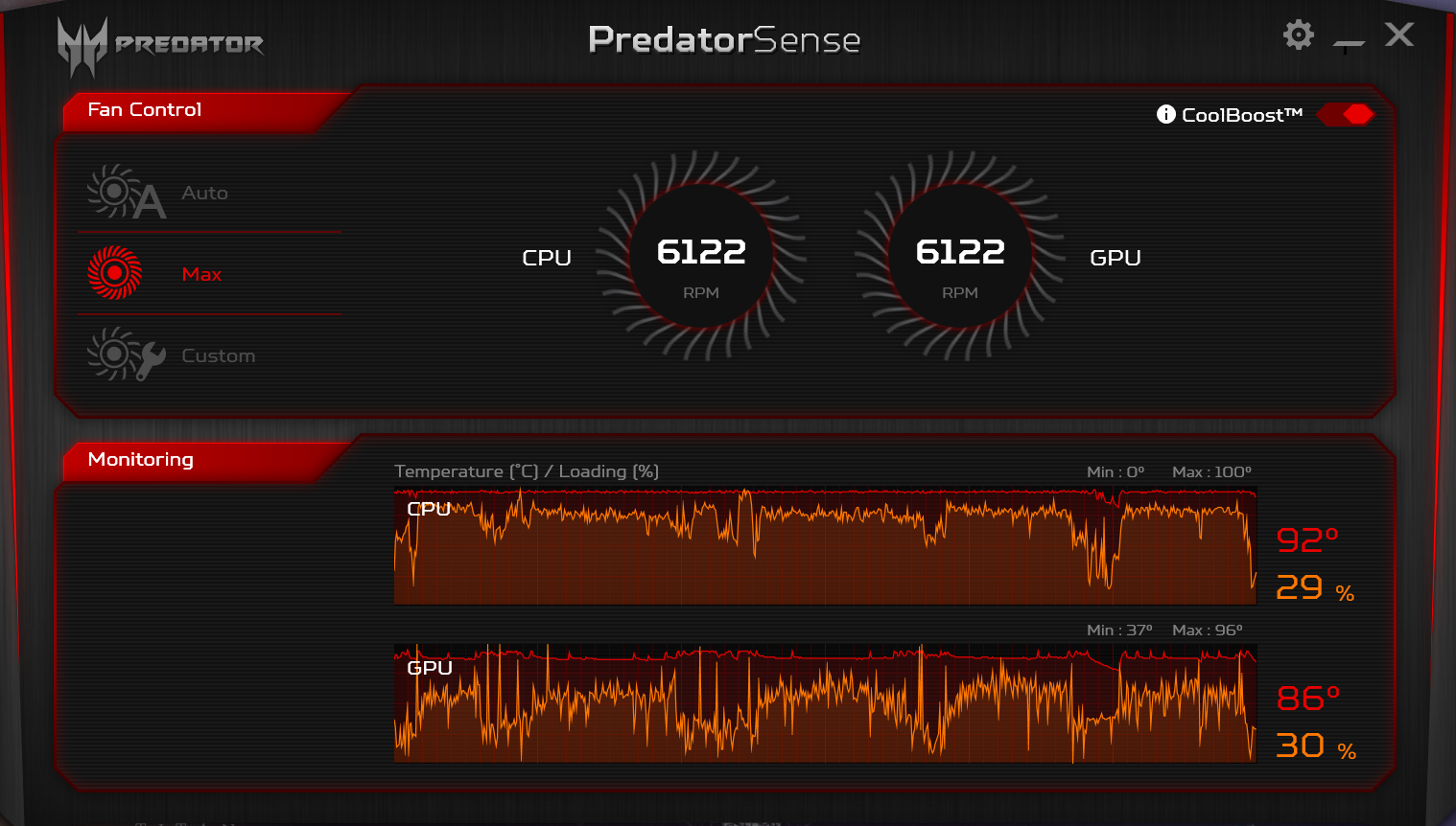 HEAT PROBLEM: Predator Helios 300 (8th Gen) i7-8750H & GTX 1060