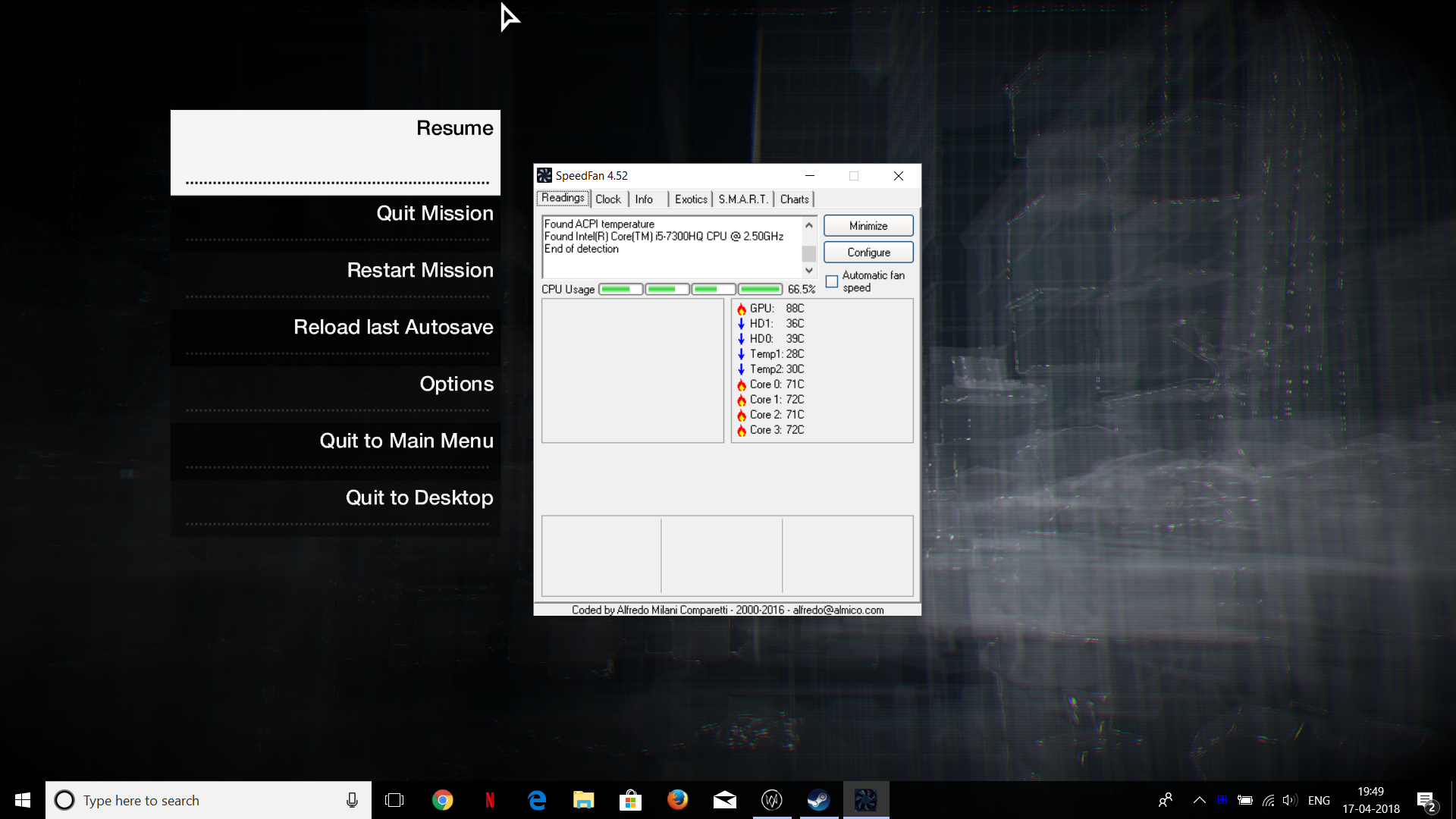 How to see cpu temp while gaming