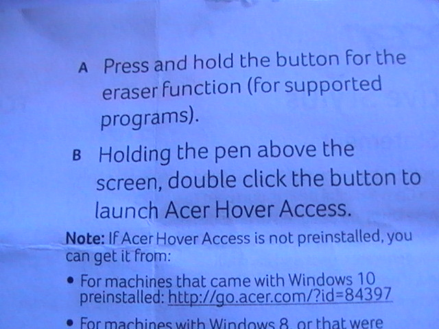 Acer Active Stylus not work  Switch Alpha 12 — Acer Community
