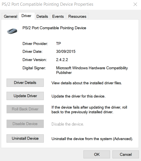 Touchpad scrolling and driver install - A715-72G — Acer Community