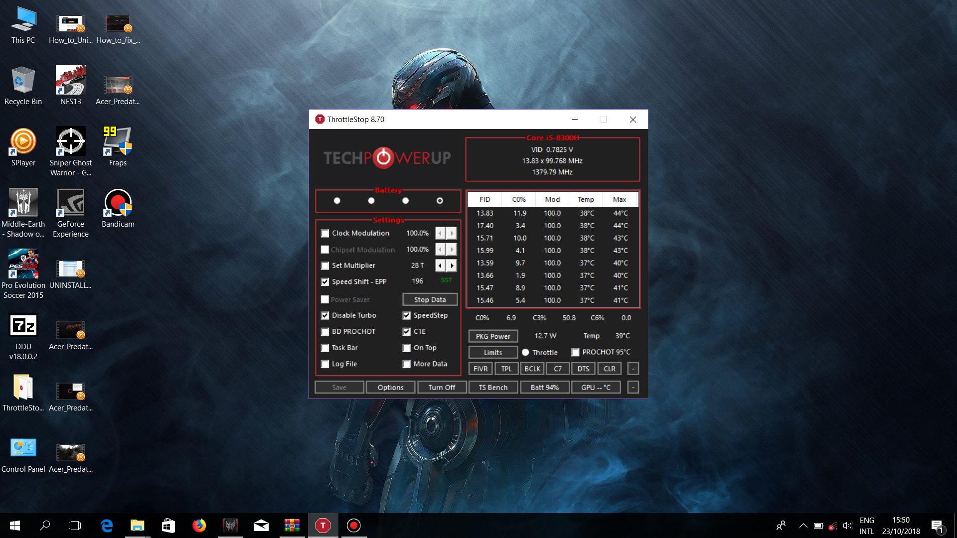 Undervolting i7-8750H - Page 3 — Acer Community