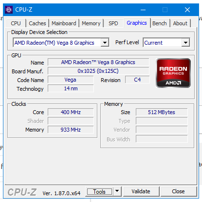 Acer Nitro 5 An515 42 Amd Displays 512mb Of Ram In Radeon Settings Acer Community