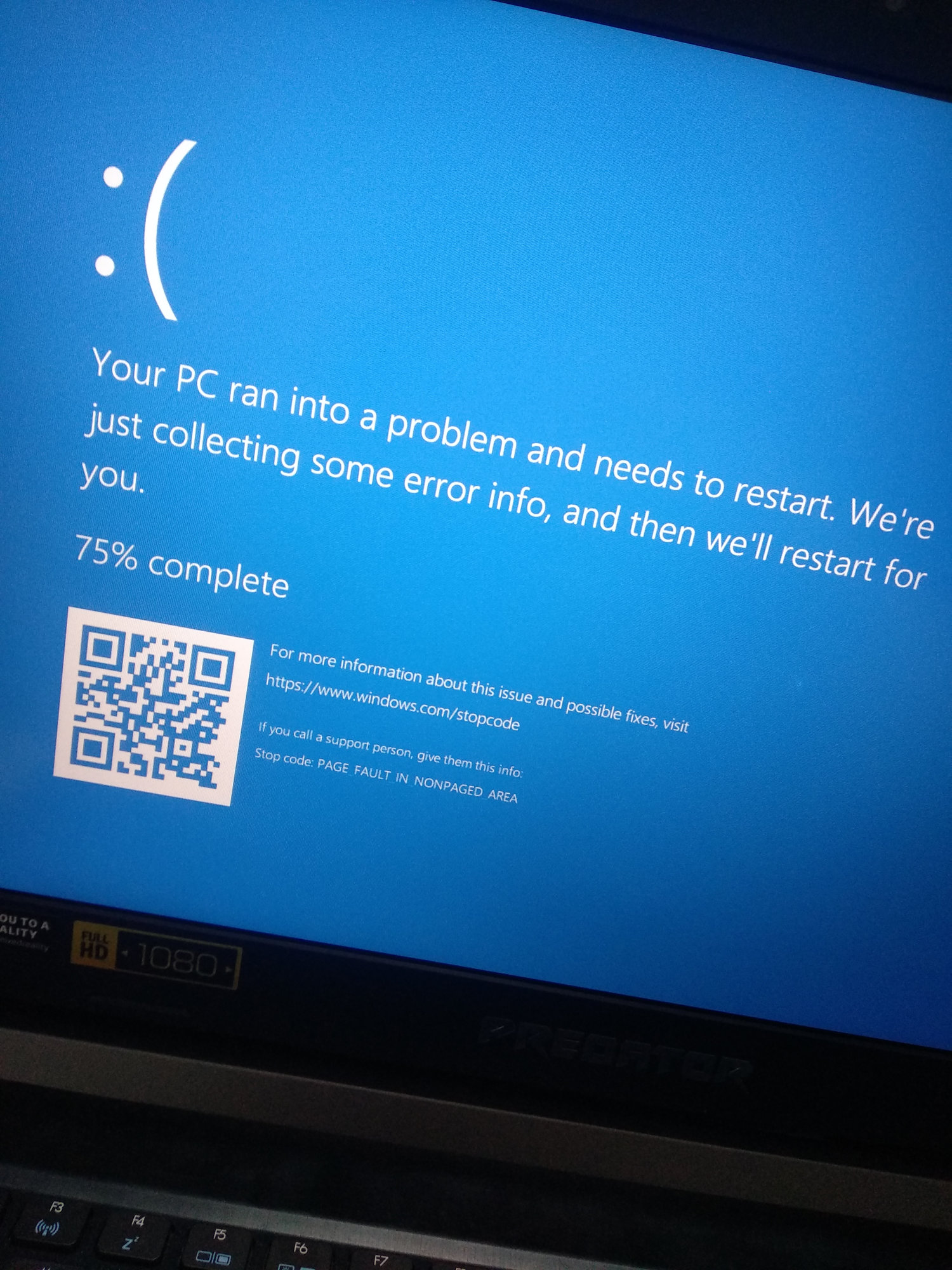 How can I restart my laptop if it hangs