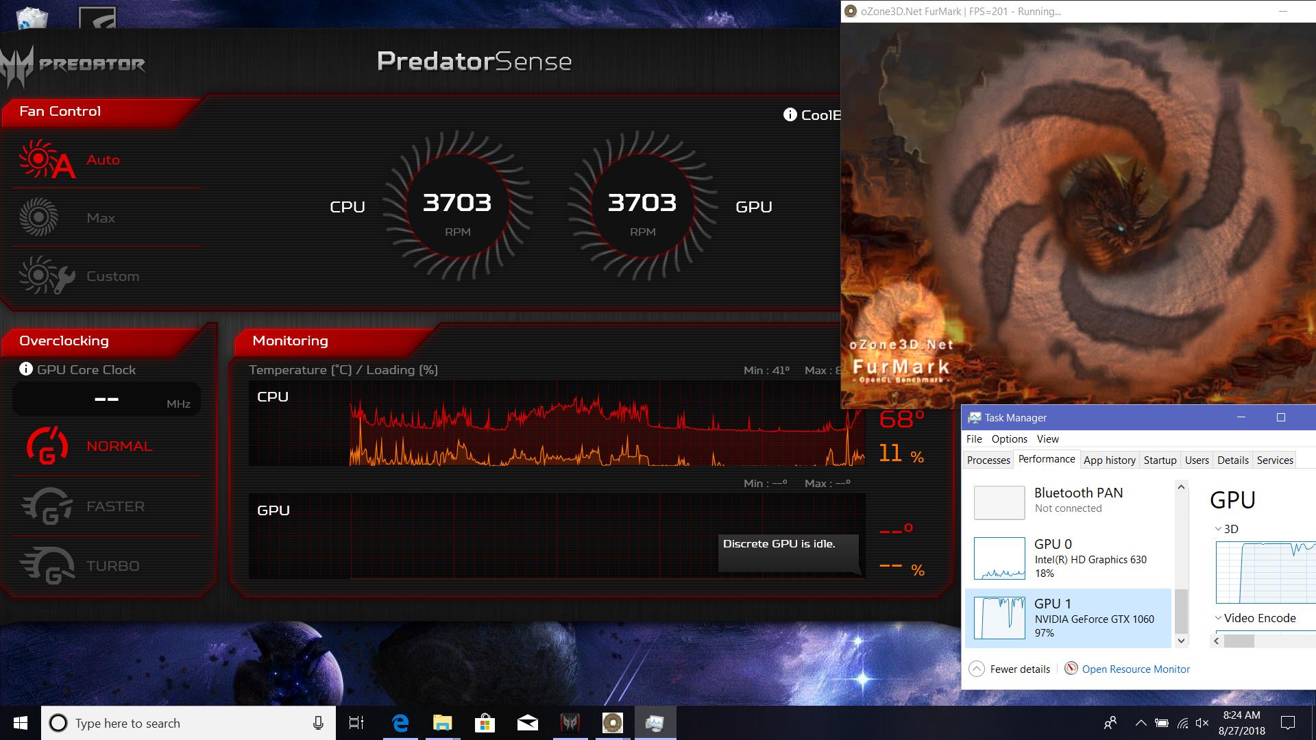 Predator sense Bug, I can't see the GPU Clocks/Temperatures/Usage in