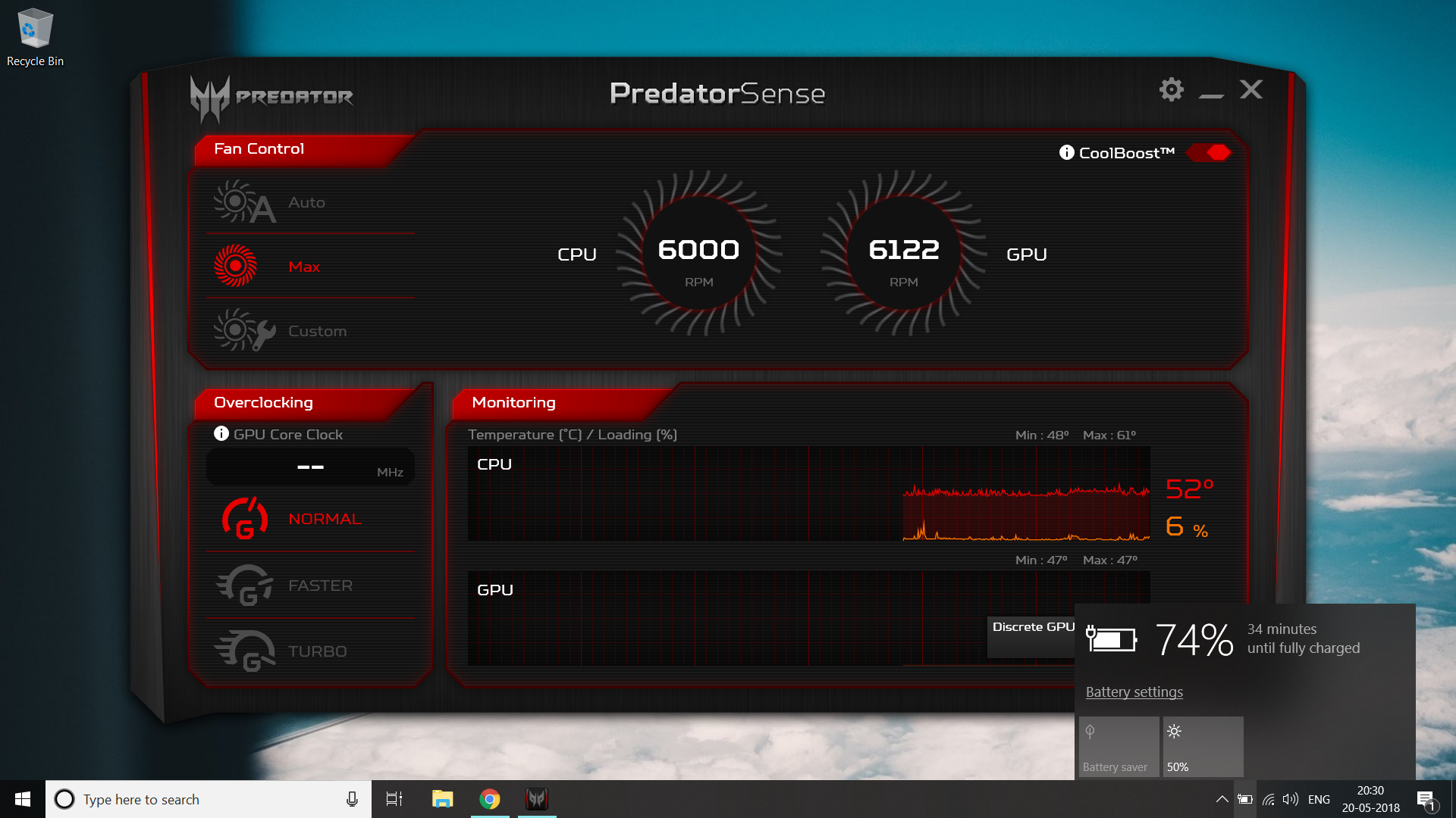 What is the max CPU Fan Speed in Predator G3-572? — Acer