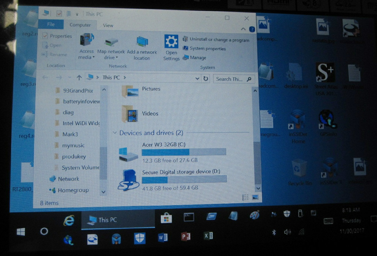 32gb Acer tablet Windows cannot update because not enough space