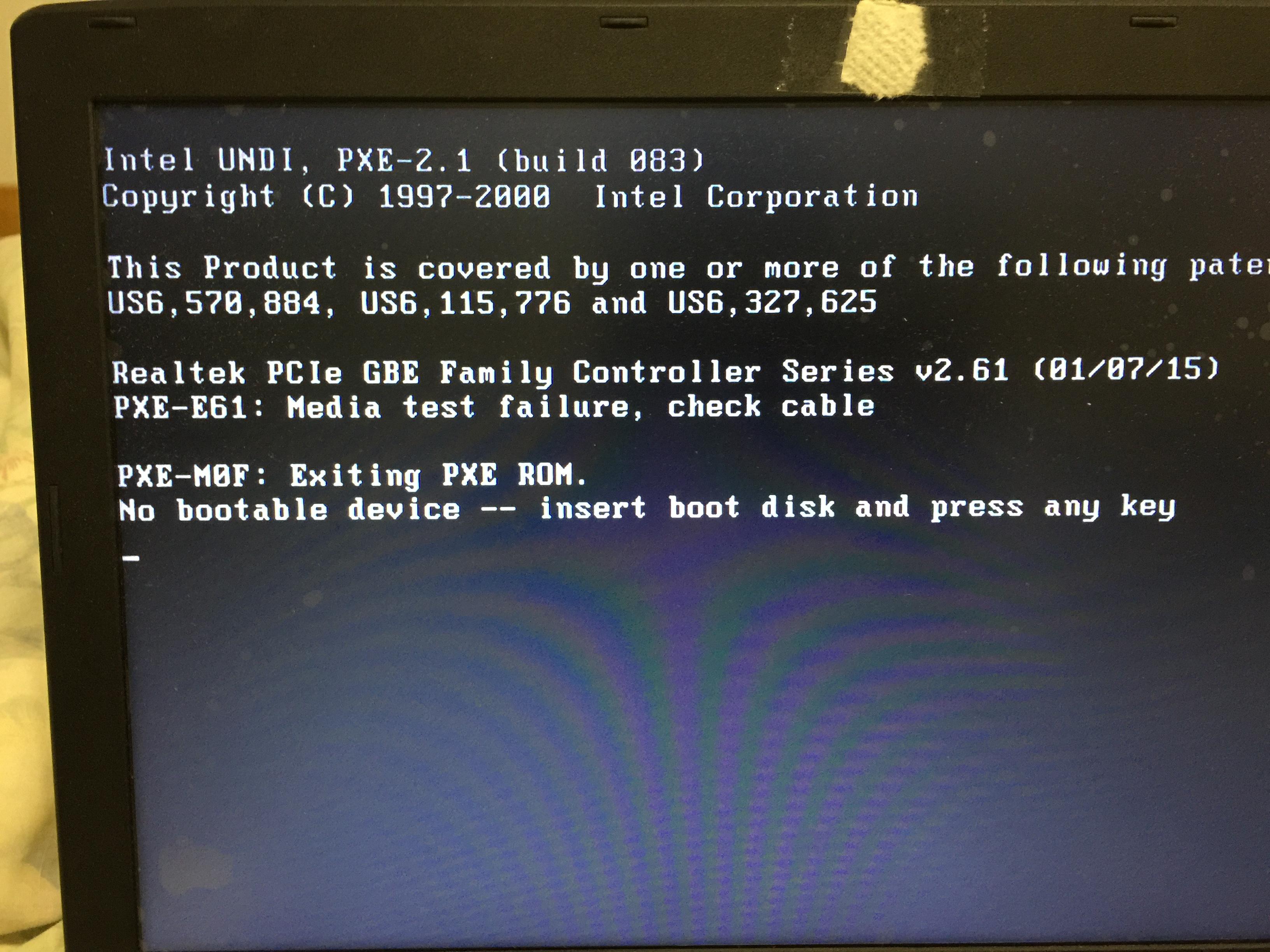 Acer Aspire E 15 E5-575-33BM No Bootable Device — Acer Community