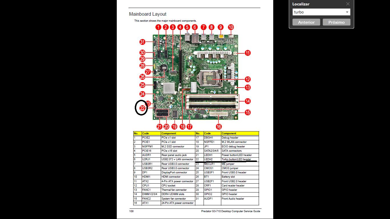 Predator G3-710 Motherboard