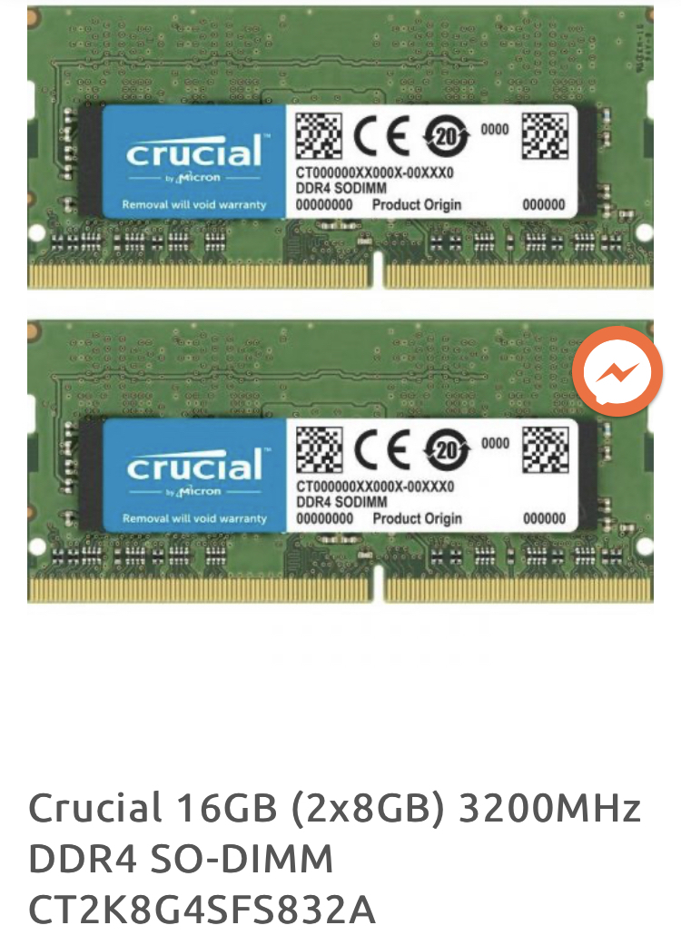2X8GB 16GB Memory Ram Compatible with Acer F3 Server AT350 for Servers only by CMS C121