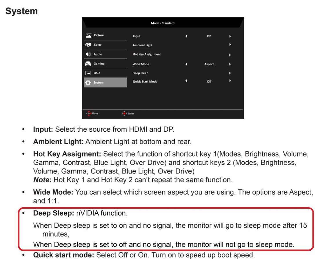 Predator XB273K fan on even when monitor is off — Acer Community