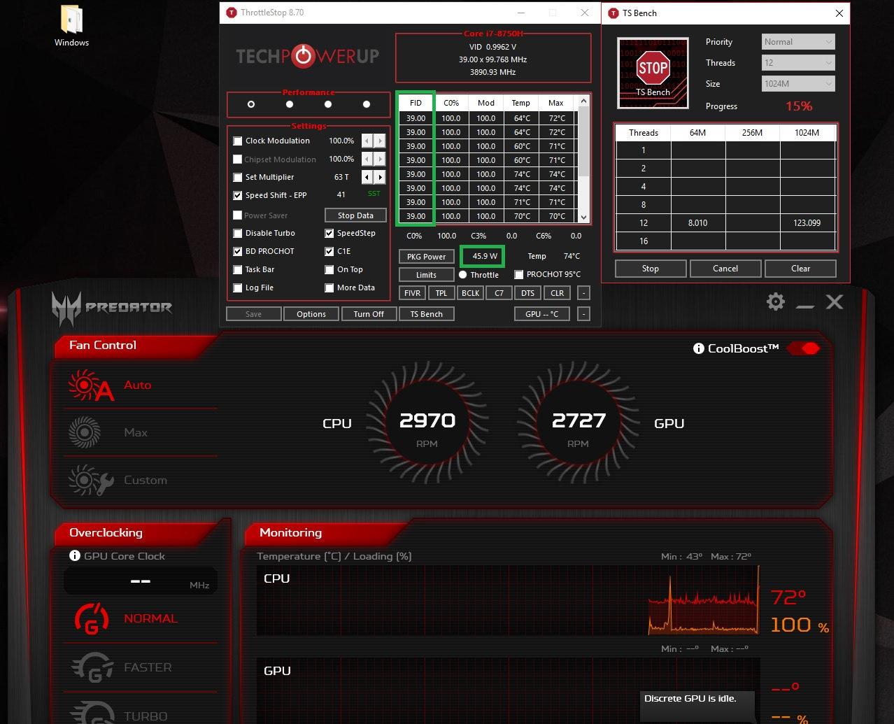 Undervolting i7-8750H — Acer Community