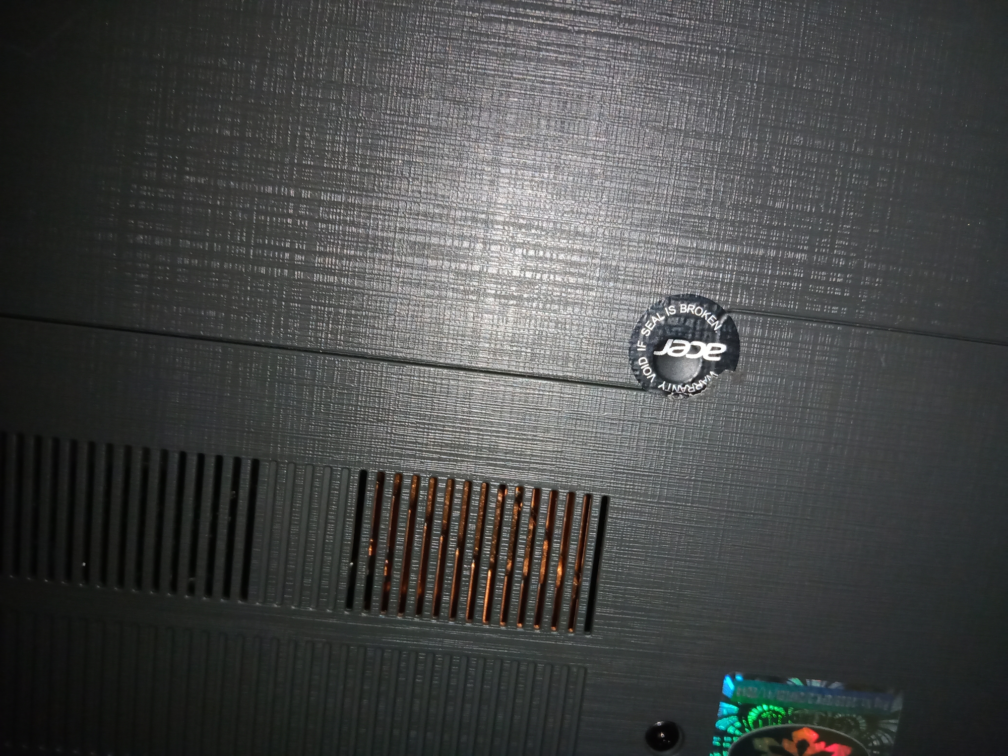 does the warranty void if the seal striker broken like this  Acer  Community