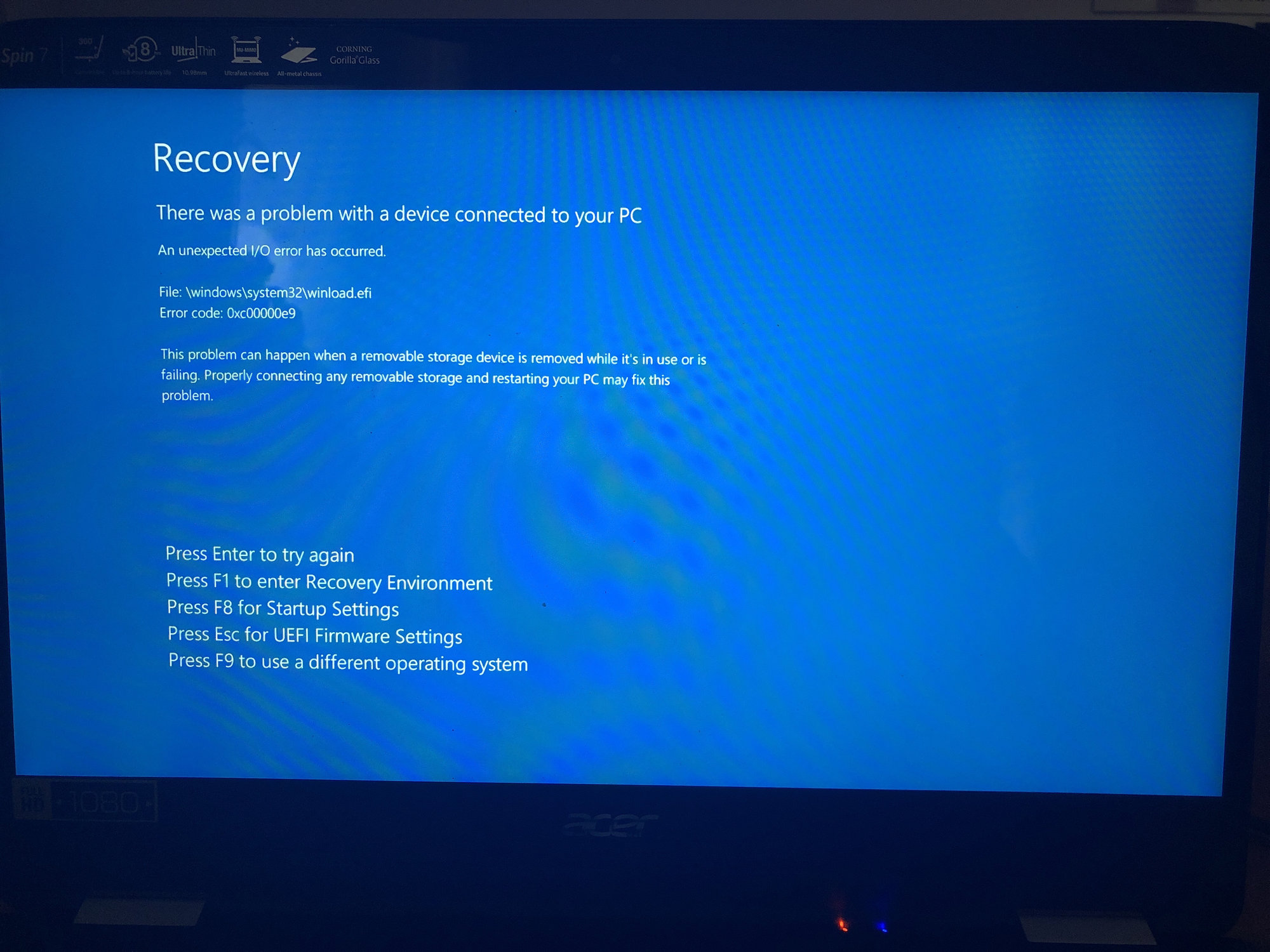 does my acer laptop have a reset button
