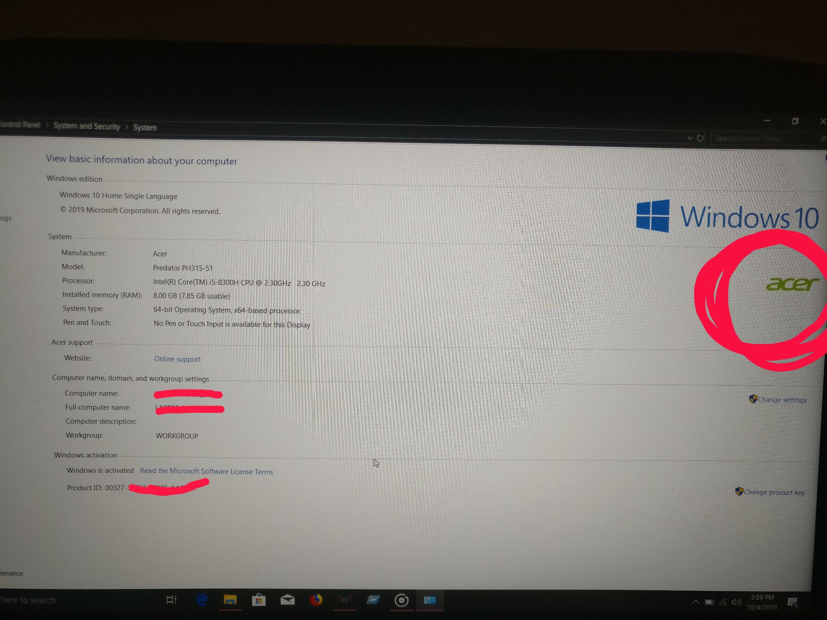 Can I clean install of acer predator PH315-5 Windows 10 ..... 1803 version?  — Acer Community