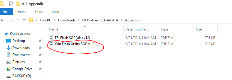 Need help with BIOS update — Acer Community