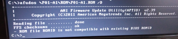 Aspire Z 1650 I Need help to downgrade BIOS to P01 A0 — Acer
