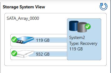 Restore initial hard drive configuration / Delete Raid Recovery