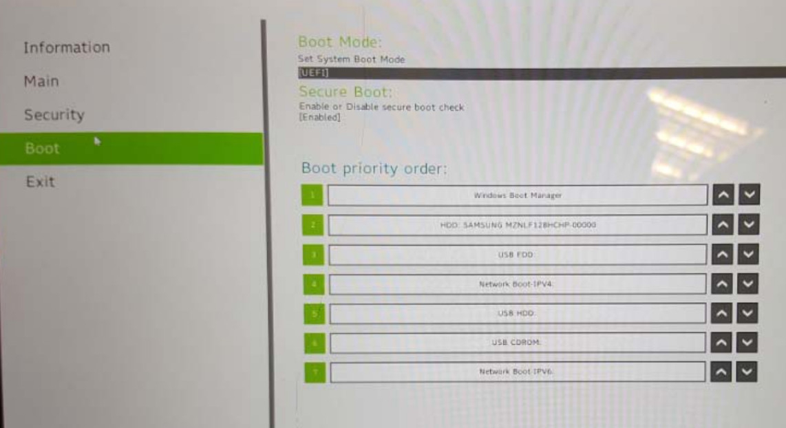 SA5-271: Dual booting and changing the boot order in the ACER boot