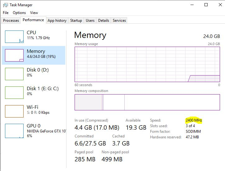 2666 or 2400 MHz for Nitro 5 (AN515-42) RAM upgrade? — Acer
