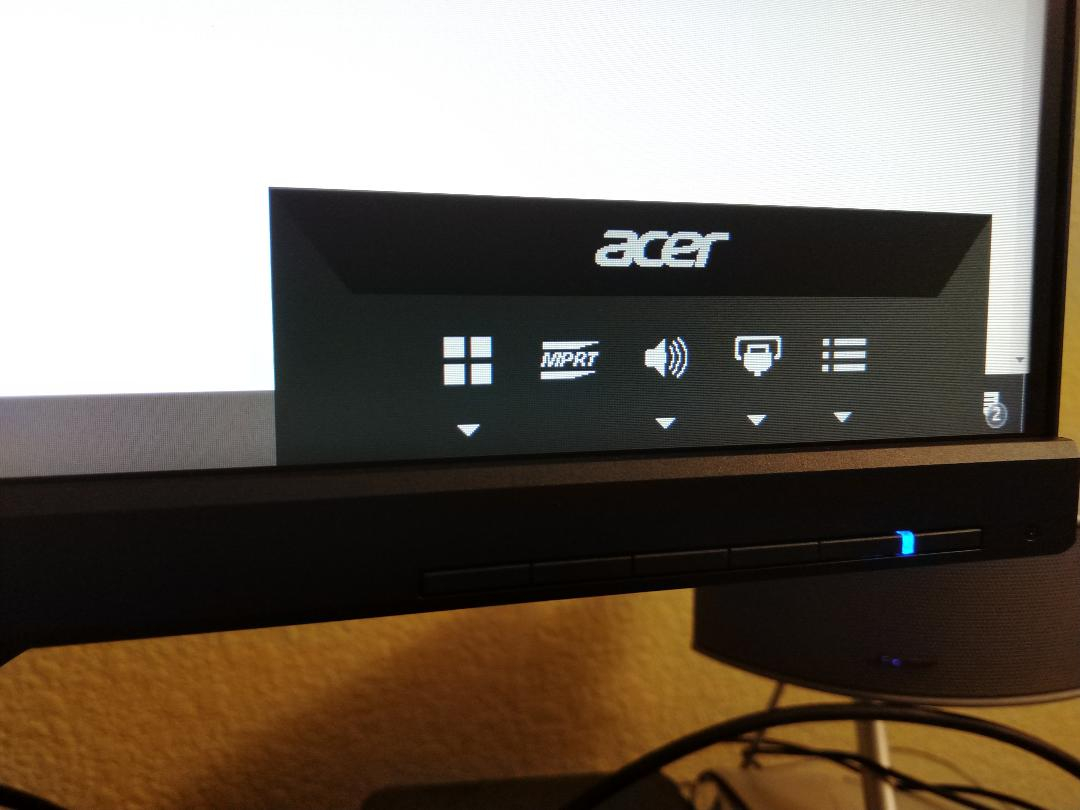 ACER XF250Q why can't I touch this MPRT? Does it affect