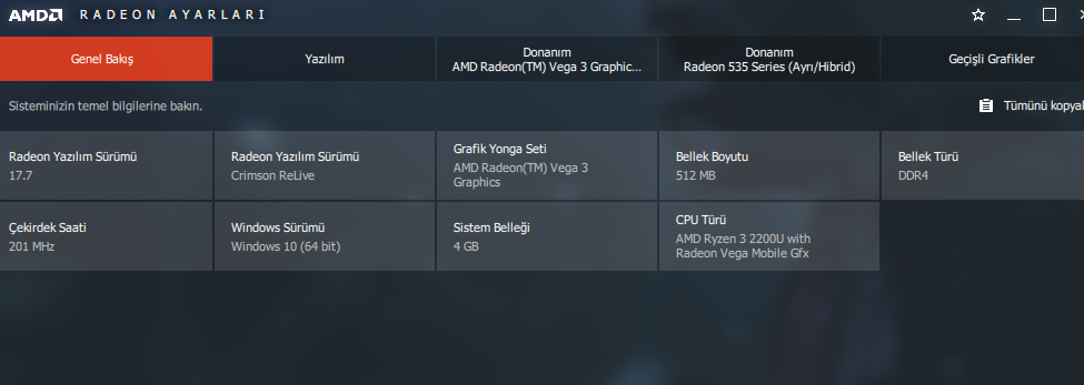 Graphics Driver Update] Acer Aspire 3 A315-41G Series  Any Ideas