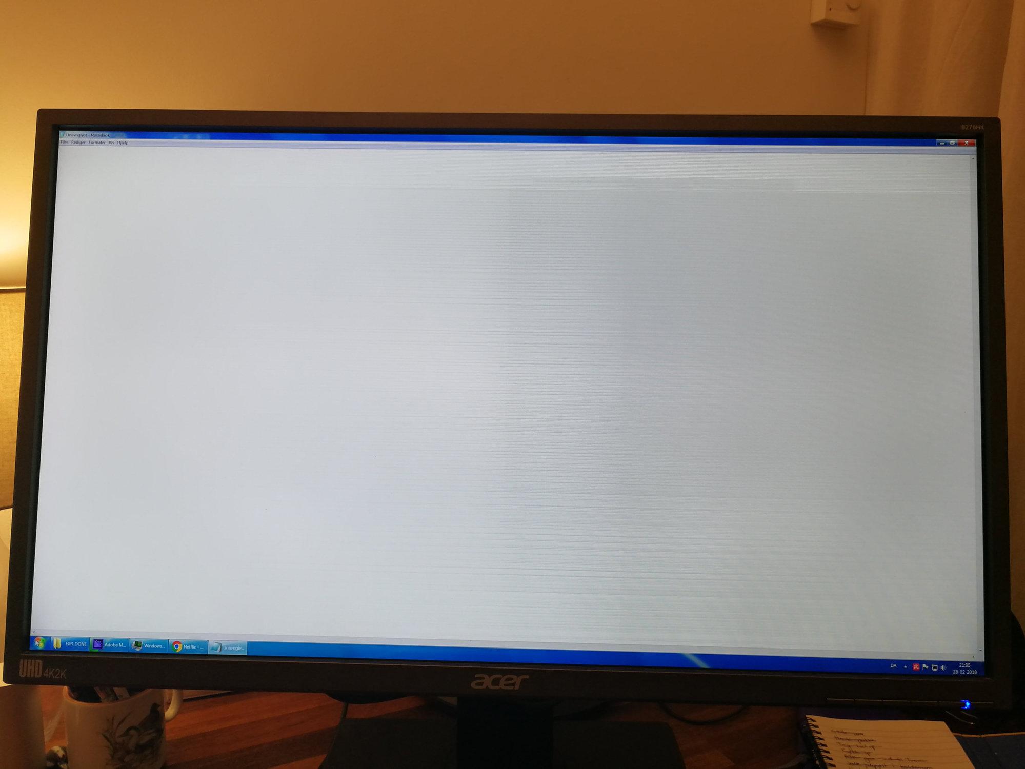 Acer B276HK suddenly started flickering — Acer Community
