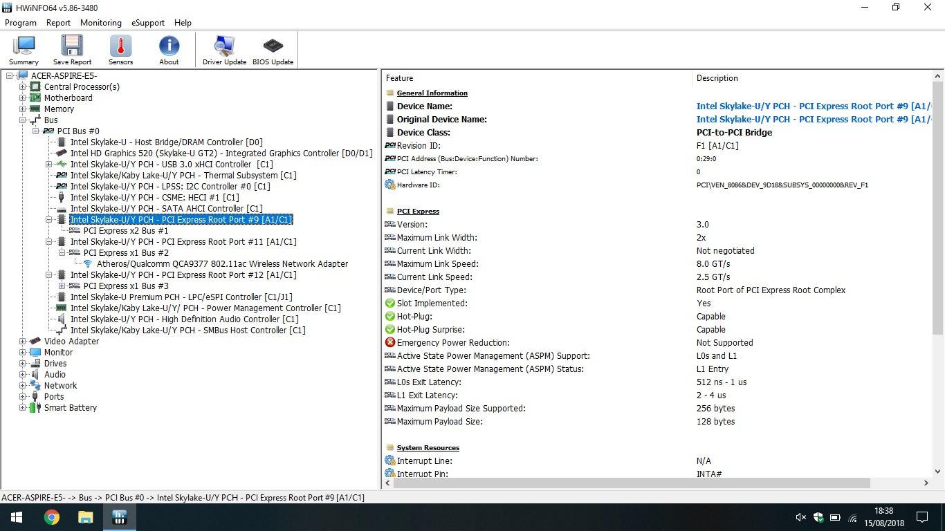M 2 SSD for Acer Aspire E5-475 — Acer Community