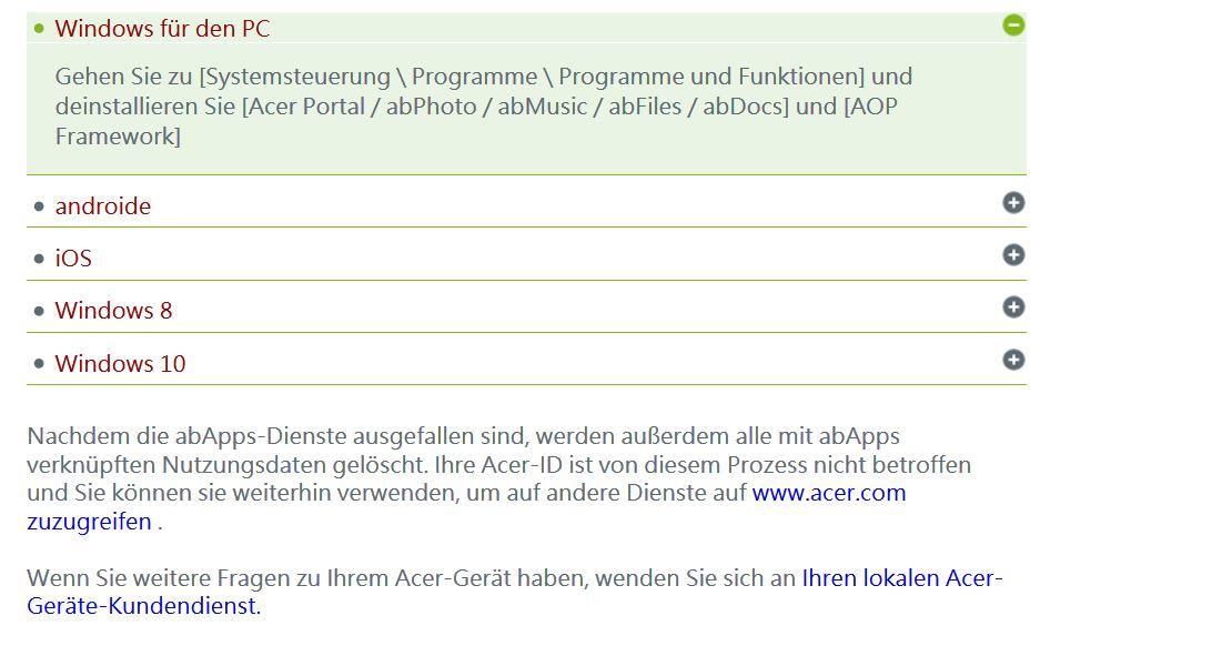 Acer Portal Deinstallieren