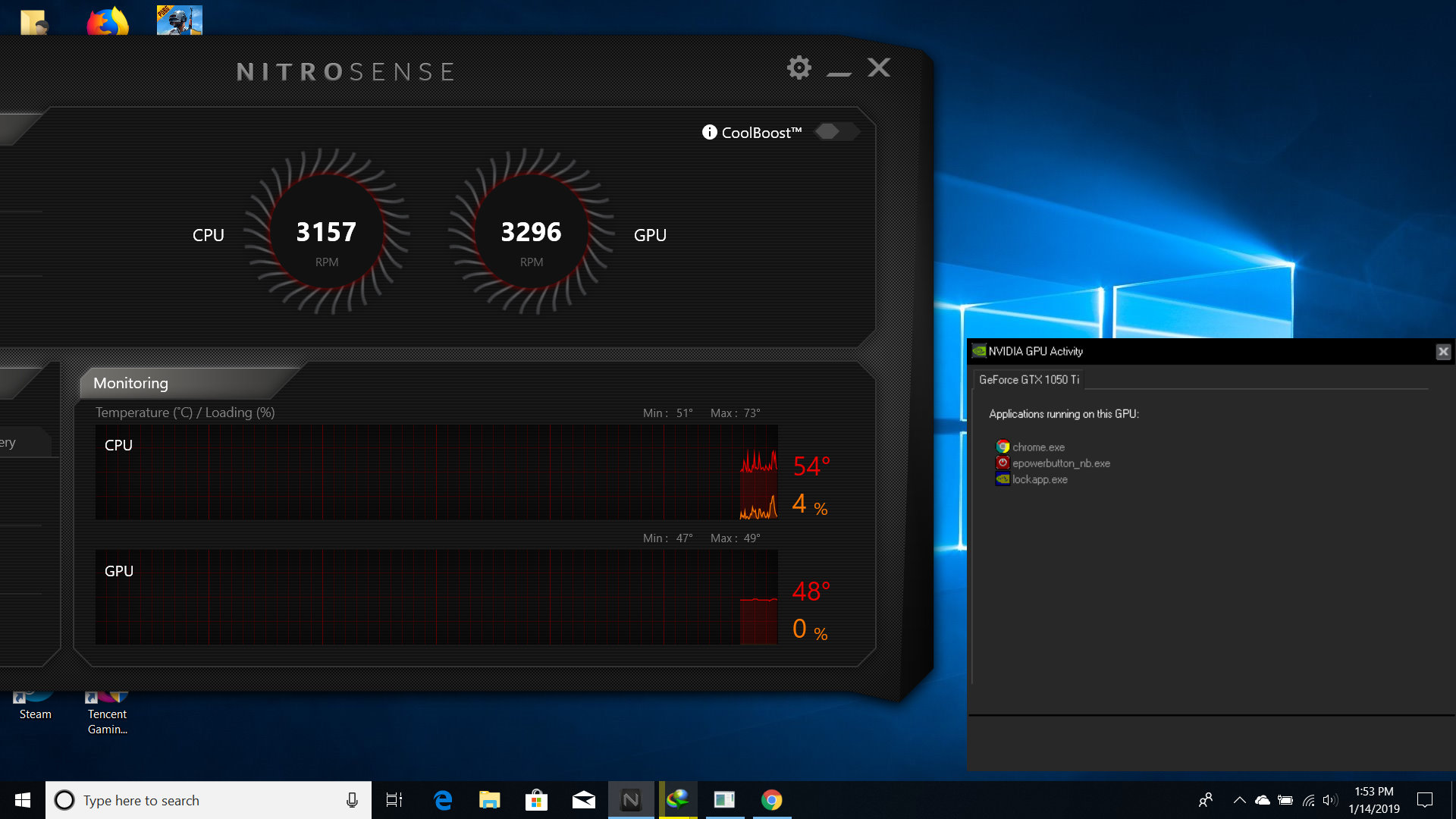 help::::Nitro sense monitoring 0% gpu usage  how to fix this — Acer