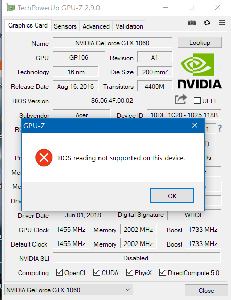 Need support for fixing my Nvidia GPU on my Predator Helios