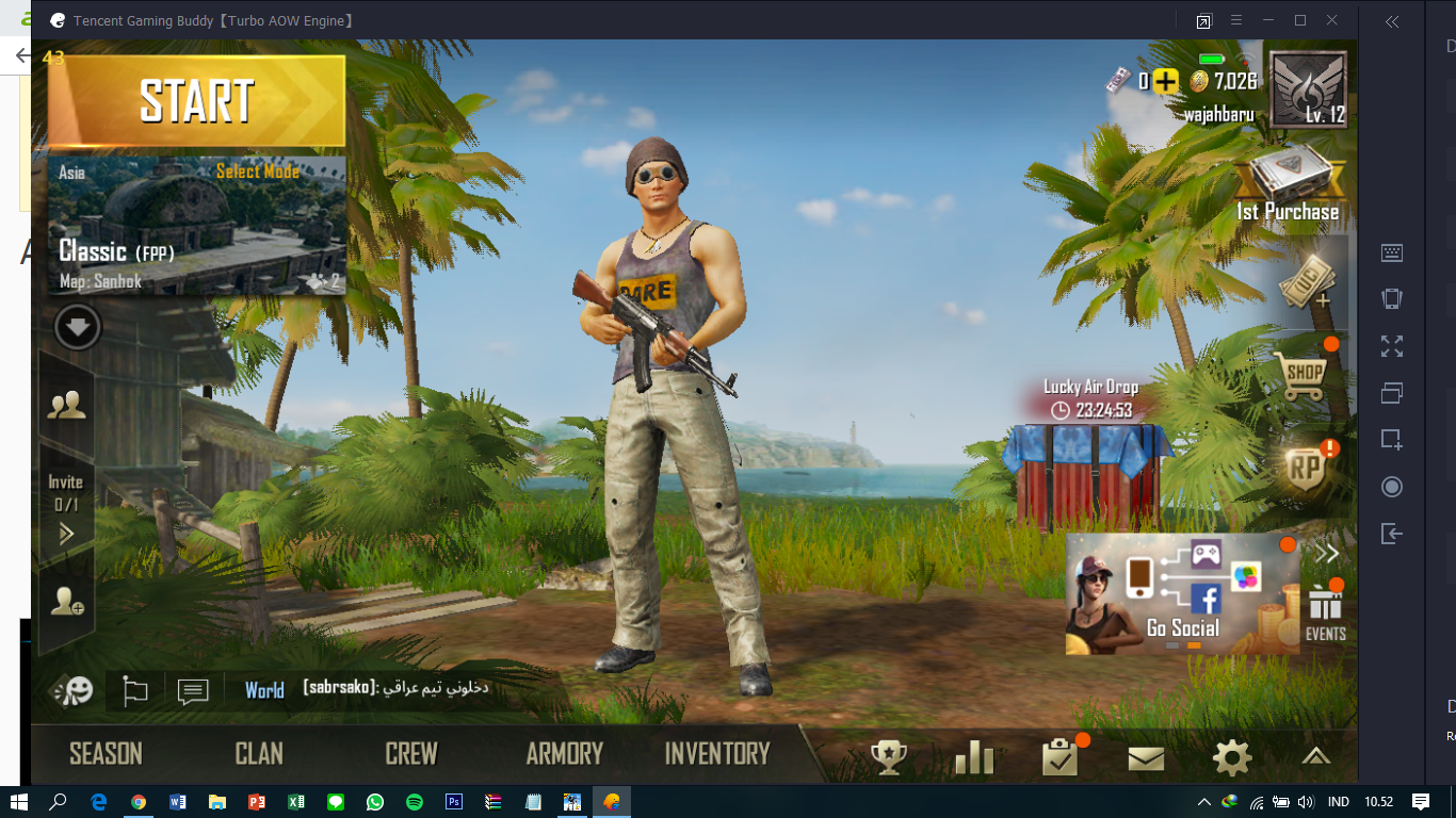 my A515-41G-13JX playing Tencent Gaming Buddy (PUBG Mobile