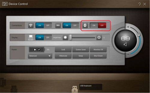 Iconia Tab W500 Device Control