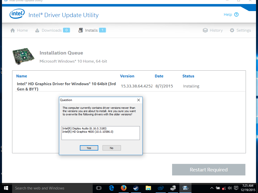 can't install the latest intel graphics driver, or use scale full ...