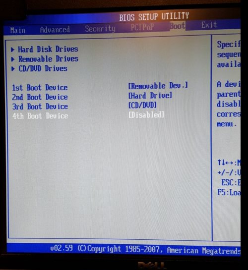 gateway laptop boot from cd