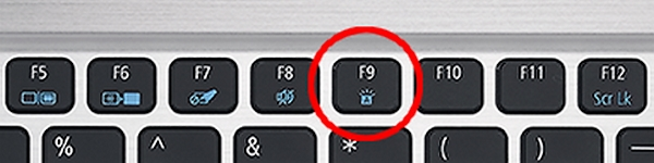 how to turn on keyboard light acer