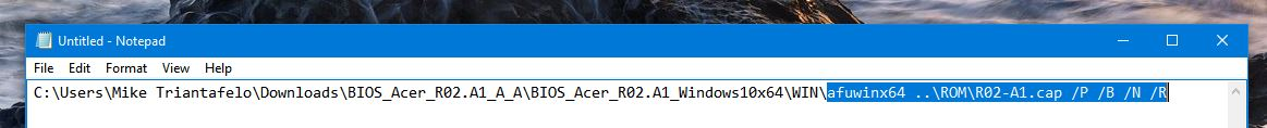 G6-710 Bios Update R02 A1 for Kaby Lake not working — Acer