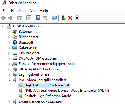 High Definition Audio device not functioning on V3 772G — Acer Community