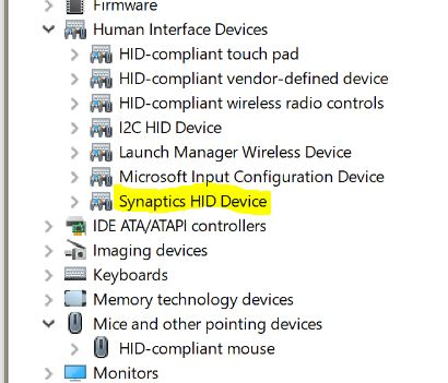Acer Aspire E 11 ES1-111M-C72R: which touchpad driver