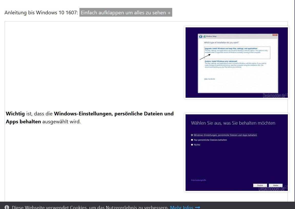 Aspire E1-572G Windows 10 Update bei 32% Stop — Acer Community