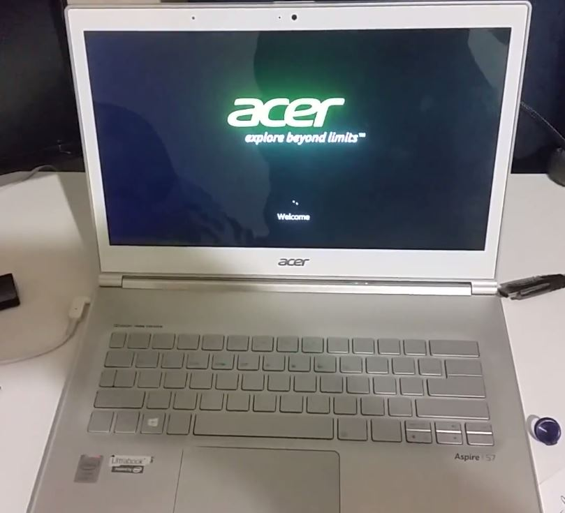 factory reset acer aspire s7