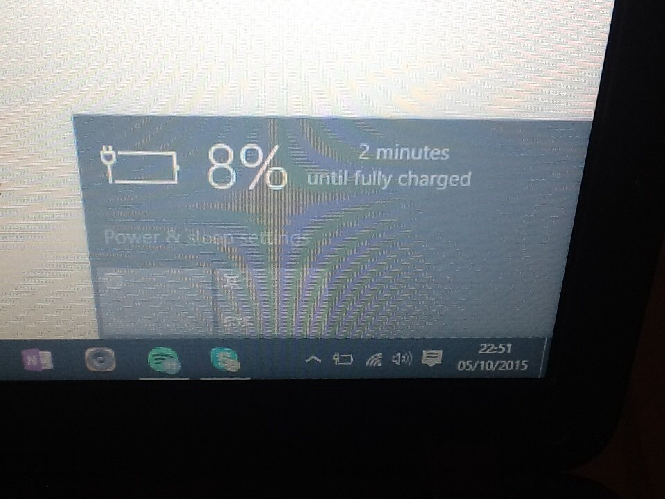 Acer aspire (windows 10) battery not charging above 8% — Acer Community